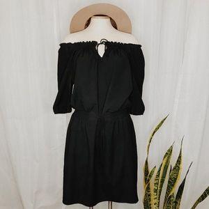 • ANN TAYLOR LOFT • off the shoulder black dress
